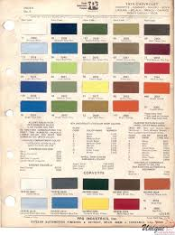 chevrolet paint chart color reference