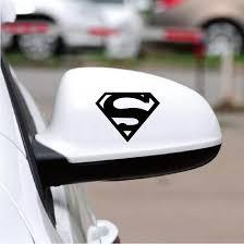 2 Pcs Superman Sign Vinyl Car Sticker Cartoon Superhero Sign Funny Car Decal For Car Rearview Mirror Window Decoration Ca1015 Car Stickers Aliexpress