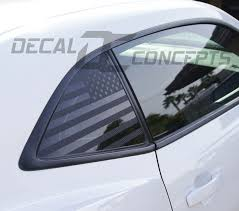 Camaro American Flag Rear Quarter Window Accent Decal 2010 2015 Decal Concepts