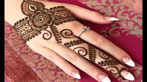 back hand mehndi design simple bail