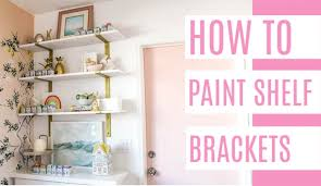 how to paint shelf brackets at home