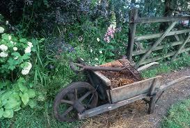 Rustic Wheelbarow Garden Fork Plant Flower Stock Photography Gardenphotos Com