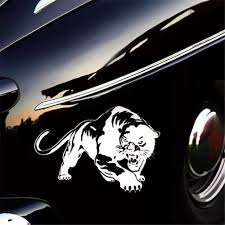 Vova Cool Decal Stickers Fiery Wild Panther Hunting Car Body Decal Auto Window Sticker Decal Motorcycle Decorations Car Rear Window Decals