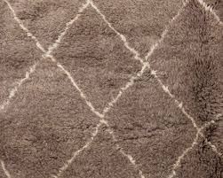 berber style grey hand knotted wool