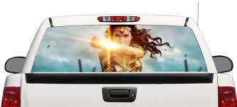Product Wonder Women Dc Comics Rear Window Decal Sticker Pick Up Truck Suv Car 3