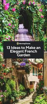 13 ideas to make an elegant french garden