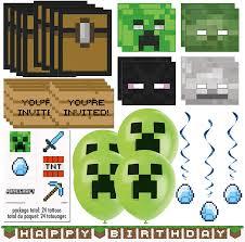 Minecraft Paquete De Recuerdos Y Decoraciones Para Fiestas De
