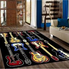 Rugs 4 Less Collection Fun Musical Theme Guitar Contemporary Area Rug 5x7 For Sale Online Ebay
