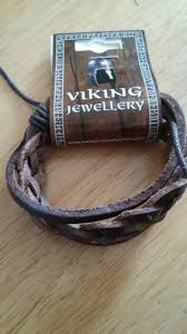 leather bracelet viking meval style