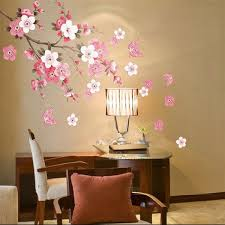 Plum Blossom Butterfly Wall Stickers Removable Decal Home Art Decor Wall Vinyl Alexnld Com