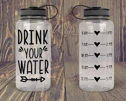 Amazon Com Celycasy Drink Your Water Water Bottle Tracker Decal Only Motivational Water Bottle With Hourly Tracker Water Reminder Home Improvement
