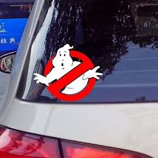 New Arrival Ghostbusters Vinyl Car Window Decal Waterproof Car Stickers And Decals Wall Sticker Reflect Silver Red Wish