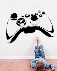 Video Game Controller Wall Decal Video Game Decor Sticker Gamer Joystick Se178 Ebay