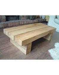 solid light oak 3 beam coffee table
