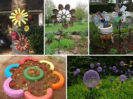 low budget diy garden art flowers