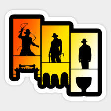 Indiana Jones Stickers Teepublic