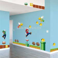 On Sale New Super Mario Bros Pvc Removable Wall Sticker Decal Boy Kids Room Home Decor For Kids Room Decoration For Kids Room Decoration For Kidshome Decor Aliexpress