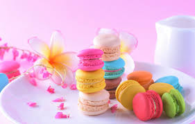 dessert pink flowers cakes sweet
