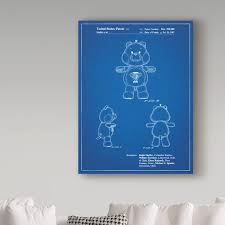 Trademark Art Champ Care Bear Drawing Print On Wrapped Canvas Wayfair