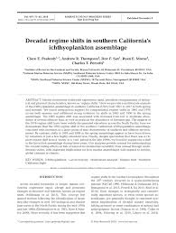 pdf decadal regime shifts in southern