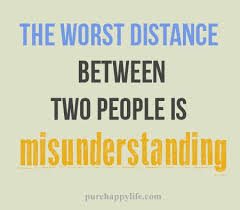 love quote the worst distance between two people is
