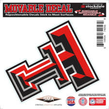 Texas Tech Red Raiders 6x6 Repositionable Decal Fans United