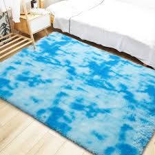 Noahas Abstract Shaggy Rug For Bedroom Ultra Soft Fluffy Carpets For Kids Nursery Teens Room Girls Boys Thick Accent Rugs Home Bedrooms Floor Decorative Purple 4 Ft X 6 Ft Rugs