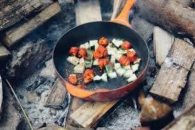 food at campsite