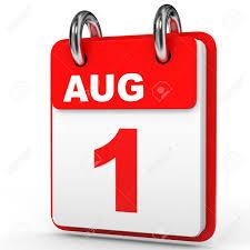 Immagini Stock - 1 ° Agosto Del Calendario Su Sfondo Bianco. Illustrazione  3D. Image 64486253.