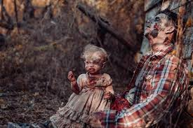 mom turns her baby into a zombie for a