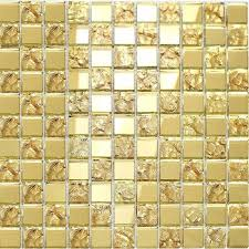 mirror glass mosaic tile wall