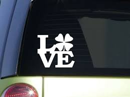 Shamrock Love 6 Sticker F126 Decal Irish Ireland Luck Clover Leaf For Sale Online