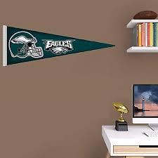 Amazon Com Philadelphia Eagles Fathead Team Pennant Logo Official Nfl Vinyl Wall Graphic 38 X14 Inch Home Improvement