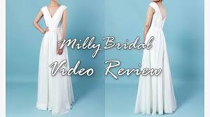 ivory wedding party dress millybridal