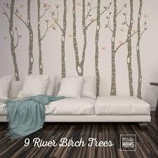 9 Birch Trees Woodland Wall Decals Motomoms Decor