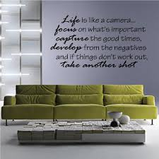 Life Is Like A Camera Focus On What S Important Capture The Good Times Develop From The Negatives Love Quote Wall Decal Vinyl Decal Car Decal Vd039 36 Inches Walmart Com Walmart Com