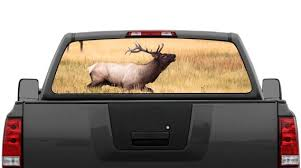 Elk Buck In Field Rear Window Graphic Decal Perforated Etsy