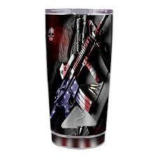 Skin Decal For Ozark Trail 20 Oz Tumbler Cup 5 Piece Kit Ar Military Rifle America Flag Itsaskin Com
