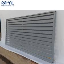 China Diy Strengthen Horizontal Aluminum Slat Fencing Privacy Fence Panel China Slat Fencing And Privacy Fence Price