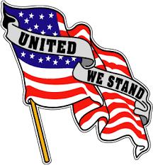 Sticker Patriotic United We Stand American Us Flag Right M C Graphic Decals