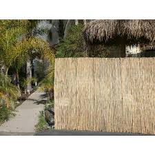 Backyard X Scapes 16 Ft X 6 Ft Natural Wood No Dig Privacy Reed Fencing Rolled Fencing In The Garden Fencing Department At Lowes Com