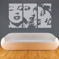 Marilyn Negative Panel Wall Decal Art Design Trendy Wall Designs
