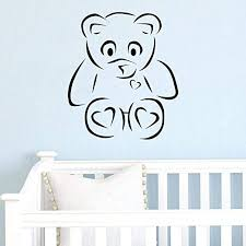 Amazon Com Teddy Bear Wall Decals For Kids Room Teddy Bear Toy Boys Girls Bedroom Baby Nursery Room Playroom Quotes Sticker Decor Playroom Vinyl Decorations Tb018 Home Kitchen