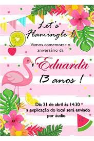 Pin De M1028garcia Em Tropical Birthday Decoracao Festa Flamingo