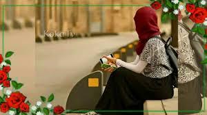 خلفيات بنات محجبات مع إطار ورد جاهزة للتصميم بدون حقوق Koka