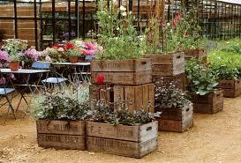 wooden crate ideas garden crates