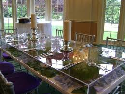 lucite acrylic table toppers