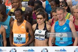 Adriana Nelson of USA at the start line of the 33rd Frankfurt ...
