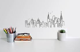 New York Skyline Wall Decal Allposters Com