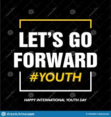 international youth day quotes stock vector